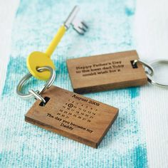 What a wonderful gift for a new daddy on Father's Day!  Personalised 'The Day You Became My…' Keyring from notonthehighstreet.com