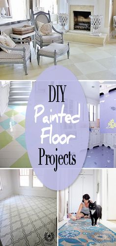 DIY Painted Floor Projects • You can save money by painting your existing flooring with these step by step tutorials!