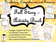 Hey, friends!This is my second story, written especially for my second and third graders. It is fall themed, it may have many uses and is highly customizable. You may choose the worksheets that you consider are appropriate for the topics you study at the moment, or you can mix the vocabulary, comprehension and grammar exercises, or even as week-end / extra homework.