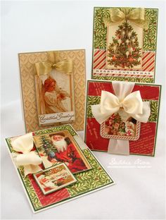 Wendy Schultz onto Graphic 45 Card's. Graphic 45, Christmas Tag, Christmas Projects, Handmade Christmas, Xmas Cards, Holiday Cards, Theme Noel, Winter Cards, Vintage Cards