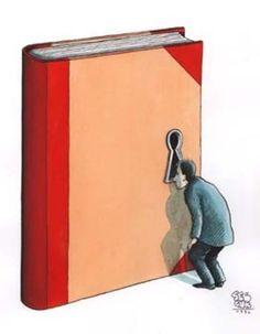Curiosidad lectora, ilustración de Selçuk Demirel