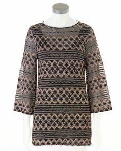 Metallic tunic that wows #SteinMart
