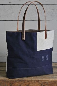 WWII era USMC Canvas Tote Bag