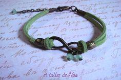 #Pulsera colección Infinit Bracelet ref. ibi15008. #Infinito + verde, pura esperanza para esta pulsera. Puede ser tuya en www.eltallerdenoa.com Consultas en eltallerdenoa@gmail.com