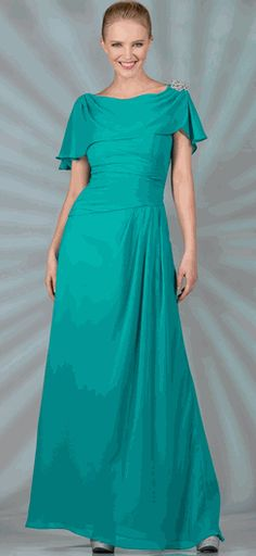 71018c75f0a7 Jade Full Length Modest Mother of the Bride Dress  dressesinjade   discountdress  dressesinjade Ball