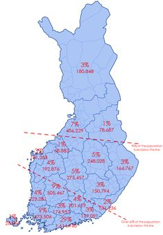 Where Finnish people live - Vivid Maps Cartography, Best Funny Pictures, Maps, History, Live, People, Countries, Europe, Travel
