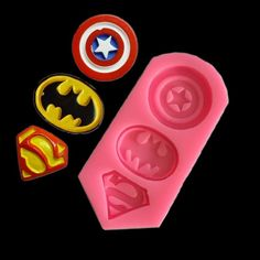 Superhero Silicone Mold, Superheroes Captain America Batman Superman Silicone Mold Cookies RKT cupcakes cakesicles strawberries Oreos by SuppliesByLela on Etsy Hand Molding, Diy Molding, Fondant Molds, Cake Mold, Strawberry Oreos, Superman, Chocolate Molds, Chocolate Covered, Candy Making