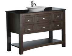 109 18 semi recessed porcelain vessel sink at menards - Menards bathroom vanities 48 inches ...