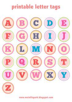 Free printable alphabet letter tags – DIY Buchstaben Sticker – freebie | MeinLilaPark – DIY printables and downloads