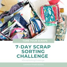 Shannon Fraser Designs: 7-Day Scrap Sorting Challenge - Tame Your Scraps #FabricCutter Quilting Tips, Quilting Tutorials, Quilting Designs, Patchwork Fabric, Quilting Fabric, Chenille Fabric, Fabric Sofa, Linen Fabric, Cotton Fabric