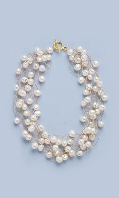 Fire Mountain Gems - Single Strand Necklace with pearls and wire