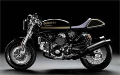Gorgeous Ducati cafe racer--though I wouldn't be caught dead riding one.