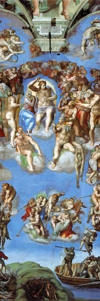 Michelangelo (Buonarroti) - The Last Judgement - Sistine Chapel, ceiling fresco, detail