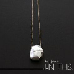 hand carved sterling silver faceted rock pendant necklace giveaway
