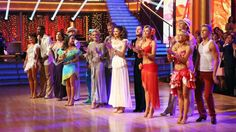 "Kym Johnson & Ingo Rademacher with the cast of Season 16 on ""Latin Week"" on ""Dancing With The Stars."""