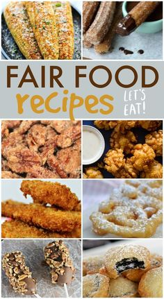How to make homemade fair food recipes! Looking for carnival and fair food recipes? Even if you can't make it to the fairgrounds try out some of these homemade versions of state fair classics. Carnival Eats Recipes, Carnival Food, Carnival Recipe, Concession Food, State Fair Food, State Fair Party, Copykat Recipes, Restaurant Recipes, Love Food