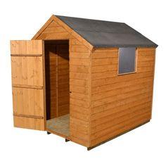 Garden Sheds B Q forest garden 8x6 reverse apex overlap european softwood shed