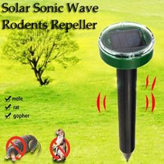 Buy Solar Power Eco-Friendly Ultrasonic Gopher Mole Snake Mouse Pest Reject Pest Repeller Bug Repellents & Pest Control Garden Supplie at Wish - Shopping Made Fun Bug Control, Mice Control, Pest Control, Mole Repellent, Cockroach Repellent, Weed, Mole Rat, Taupe, Insect Pest