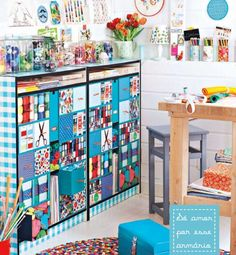 colorful and cheering craft room