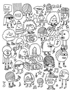 Unused Coloring Book Page by Andy J Miller, via Flickr