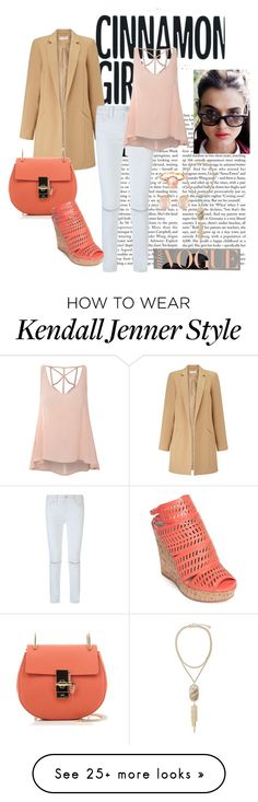 """""""Daily Casual"""" by anandiek on Polyvore featuring Miss Selfridge, Rebecca Minkoff, Glamorous, Chloé, Charles by Charles David, Mismo, Kenneth Jay Lane, Kendra Scott and coral"""