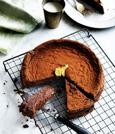Recipe for chocolate Manjari cake by Nadine Ingram from Sydney bakery Flour…