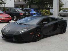 Lamborghini Aventador in matte black!