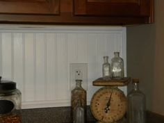 Addition Of Beadboard Backsplash Corbels To Kitchen Cabinets Via Love Of Family Home A Home Is Built With Love And Dreams Pinterest Beadboard