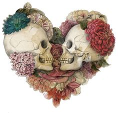 skulls & flowers reminds me of @April Cochran-Smith Cochran-Smith Meeker
