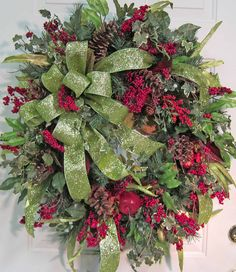Christmas Wreath-Berry Pine Greenery