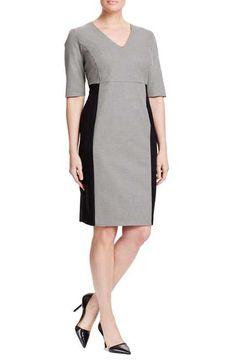 Persona by Marina Rinaldi 'Duomo' V-Neck Sheath Dress (Plus Size)