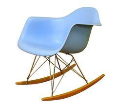 Rocking Chair - Modern Style Sky Blue Finish
