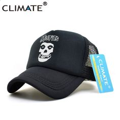 878763c355b KLIMAAT The Misfits Band Skulls Zomer Cool Mesh Caps The Misfits Punk Metal  Rock Cool Zomer Baseball Mesh Net Trucker Caps