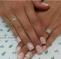 Cute nails for bride.