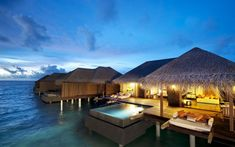 Dream honeymoon location - over water bungalow villas in the Maldives