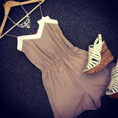 Probably would go with different wedges/sandals but this romper is the bizness!!