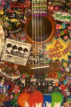 cute Cool music hippie the beatles guitar acoustis beatles guitar Beatles Guitar, Les Beatles, Guitar Art, Beatles Art, Beatles Poster, Acoustic Guitar, Beatles Songs, Music Guitar, Music Music