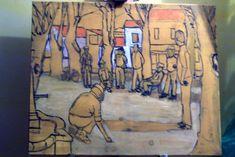 Peinture acrylique : La partie de pétanque 2 - Le blog de lapalettedecouleurs.over-blog.com Blog, Painting, Acrylic Paintings, How To Paint, Paisajes, Drawing Drawing, Painting Art, Blogging, Paint