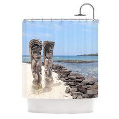 City of Refuge by Nastasia Cook Coastal Shower Curtain