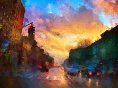 "Tzviatko Kinchev ""Town Sunset"""