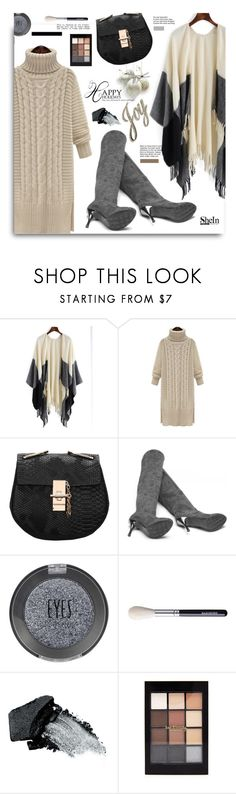 """Happy Holidays with Shein.com"" by hamaly ❤ liked on Polyvore featuring Topshop, Gorgeous Cosmetics, Forever 21, dresses, Sheinside, cape, holidaystyle and happyholidays"