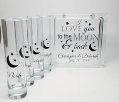 Unity Candle Alternative - Blended Family Unity Sand Set - Love You to the Moon and Back