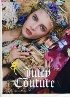 This ad is so hippie and I love that flower crown