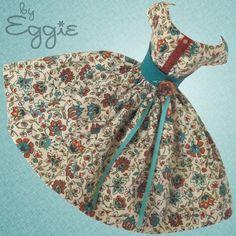 Pumpkin Spice - Vintage Reproduction Repro Barbie Doll Dress Clothes Fashions