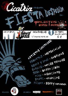 Goar Cicatriz presenta en la sala Jimmy Jazz de Vallekas la fiesta despedida de Malditos Bastardos http://www.rockllejeros.com/MFNotCompleta.php/not/grp/717/717/2015-03-30/