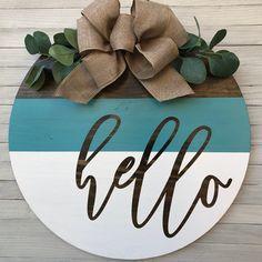 Wooden Door Signs, Wooden Door Hangers, Diy Wood Signs, Wooden Doors, Country Wood Signs, Fall Door Hangers, Welcome Signs Front Door, Front Door Decor, Wreaths For Front Door