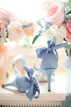 Trendy Dusty Blue Wedding Shoes For Bride Ideas - Trendy Dusty Blue Wedding Shoes For Bride Ideas Trendy Wedding, Dream Wedding, Wedding Day, 2017 Wedding, Wedding Veils, Wedding Blue, Garden Wedding, Pink Wedding Shoes, Wedding Colors