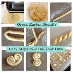 I share my recipes with fellow busy mums and create a community where we can all help each other with answers that were tried and tested. Greek Sweets, Greek Desserts, Greek Recipes, Easter Cookies, Easter Treats, Easter Food, Greek Easter Bread, Greek Cookies, Easter Biscuits