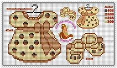 Ropita Cross Stitch Boards, Cross Stitch Baby, Loom Patterns, Cross Stitch Patterns, Loom Beading, Perler Beads, Cross Stitching, Pixel Art, Crochet Baby