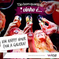 Tem coisa melhor para o happy hour? Vinho e amigos: a combinação perfeita! #happyhour #wine #vinho #friends #amigos